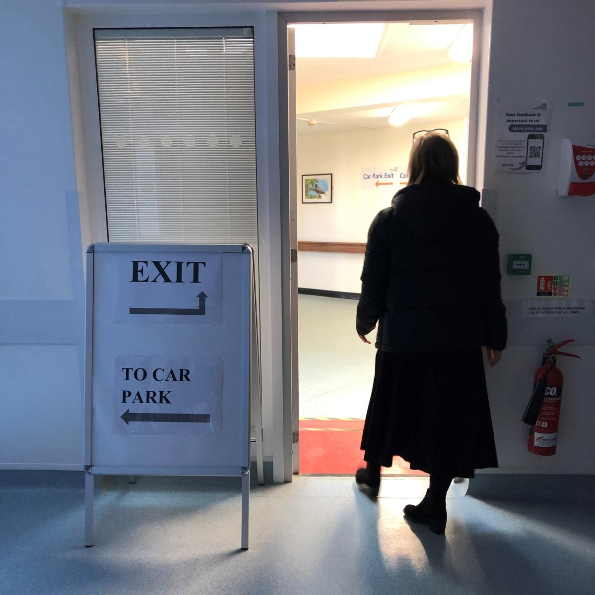 After your observation period, please follow the exit signs back to the car park…