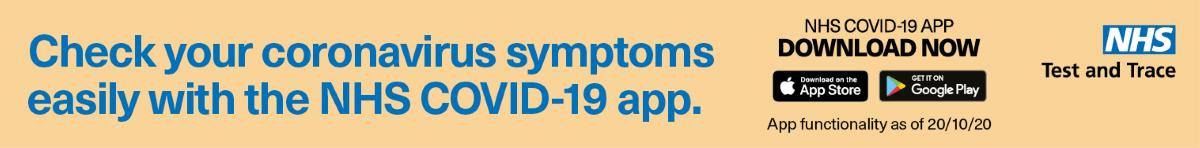 Check your symptoms with the NHS app